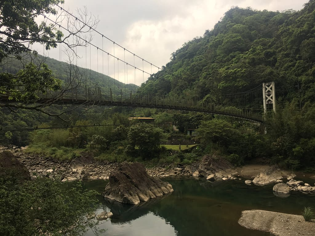 suspension bridge in Pinglin, Taiwan
