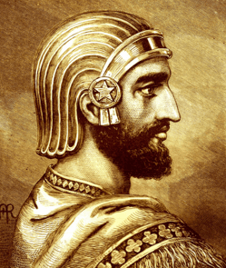 Cyrus the Great rocking a very handsome battle helmet