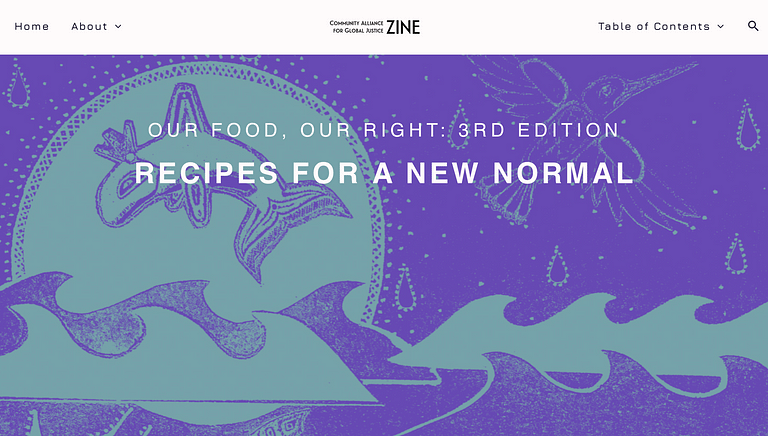 Screen shot of Our Food, Our Right: 3rd Edition: Recipes for a New Normal